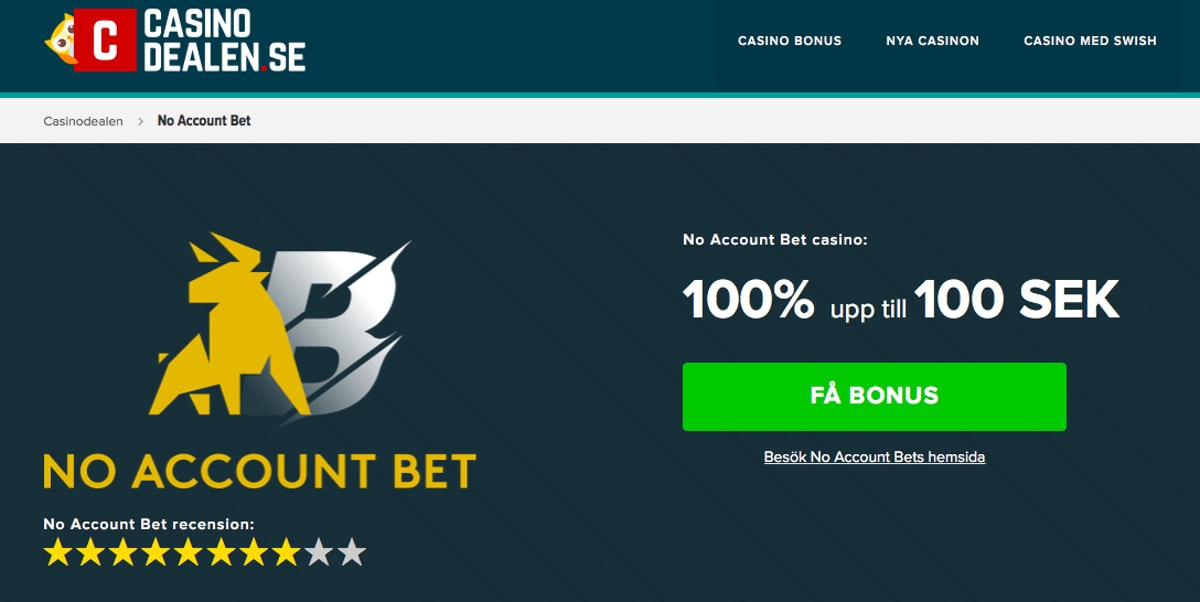 No account bet 20333
