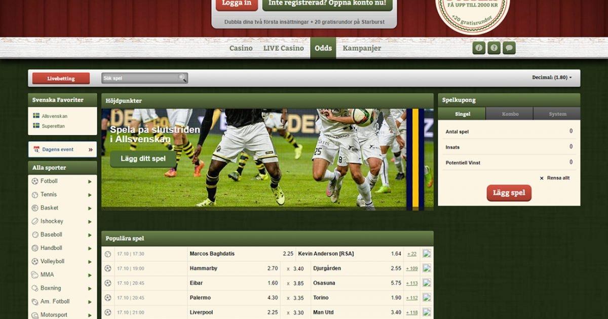 Betting odds sports Svenska 48220