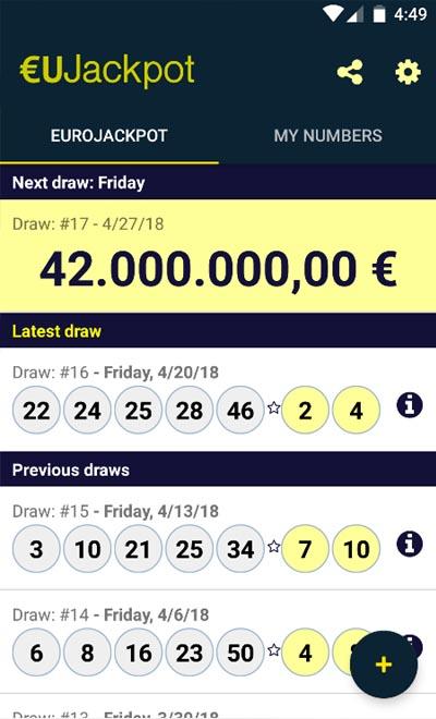 Eurojackpot resultat fredag 64215